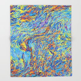 Abstraction Throw Blanket
