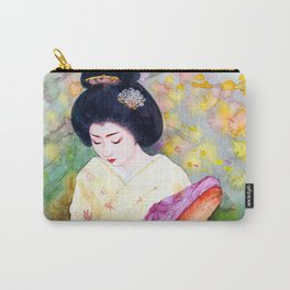 Watercolor Japanese Beauty - Lower Her Head Carry-All Pouch