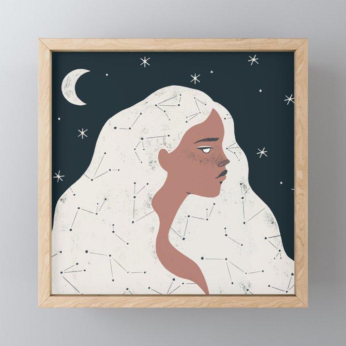 keeper of stars Framed Mini Art Print