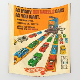 1970 American Issue Vintage Hot Wheels Redline Factory Poster Wall Tapestry