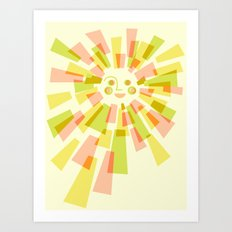 Sunburst Warm Art Print