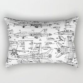 F-18 Blueprints Rectangular Pillow