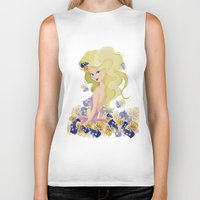 lucy Biker Tanks featuring Lucy by carotoki art and love