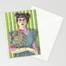Girl with Dream Chicken Stationery Cards