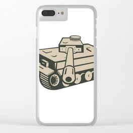 World War Two German Panzer Tank Aiming Clear iPhone Case