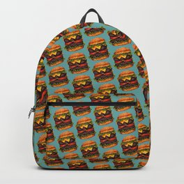 Double Cheeseburger Pattern Backpack