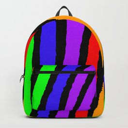 Rainbow Zebra Print Backpack