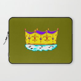 A Royal Crown with a Green Background Laptop Sleeve