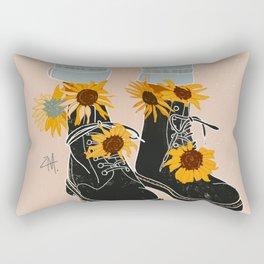 Flower Boots Rectangular Pillow
