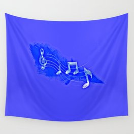 Blue Notes Wall Tapestry
