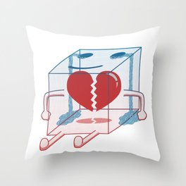Little Box of Broken Heart Throw Pillow
