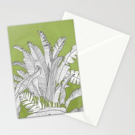 Banana Leaves Illustration - Green Stationery Cards
