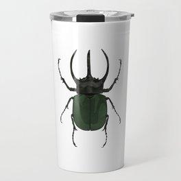 Atlas Beetle Insect Digital Watercolor Travel Mug
