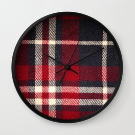 Red Flannel Wall Clock