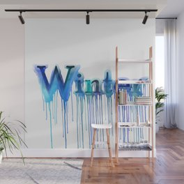 Winter Typography Wall Mural