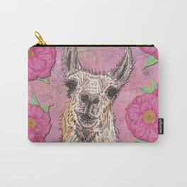 Perfectly Pink Llama Carry-All Pouch