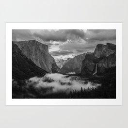 Yosemite National Park - Tunnel View Art Print