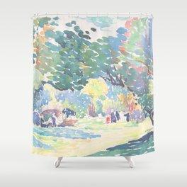 Landscape by Henri-Edmond Cross 1904, French Shower Curtain