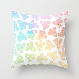 rainbow anatomical heart zendoodle pattern Throw Pillow