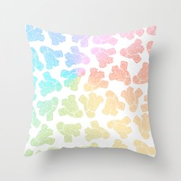 rainbow anatomical heart zendoodle pattern Throw Pillow