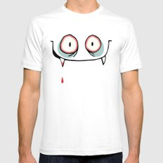Dracula close up SMALL White Mens Fitted Tee