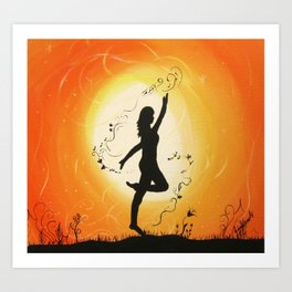 Dance before the light Art Print