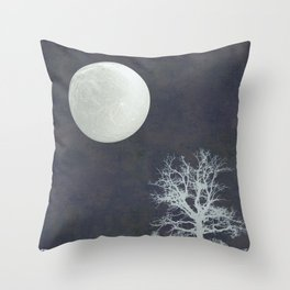 With that Moon Language Throw Pillow
