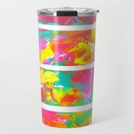 Abstract fusion of colors Travel Mug