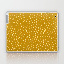 Mustard Paint Drops Laptop & iPad Skin