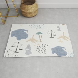 Light Blue - YangTia's Life Rug