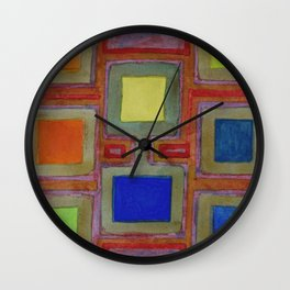 Colorful Screens on the Shelf Wall Clock
