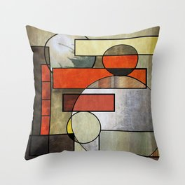 Falling Industrial Throw Pillow