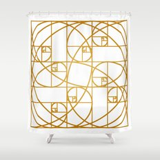Golden Ropes Shower Curtain