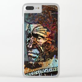 Maori Warrior 2 Clear iPhone Case