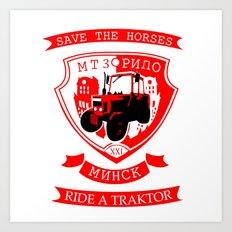 traktor Art Print