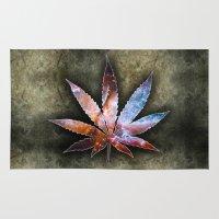 marijuana Area & Throw Rugs featuring Marijuana Leaf - Design 2 by Spooky Dooky