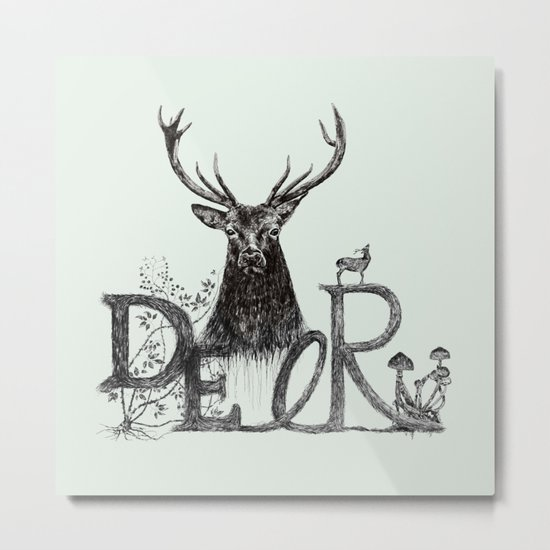 Dark Deer Metal Print