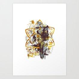 Golden goddess I Art Print
