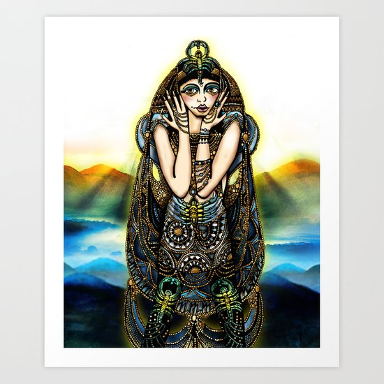 Astrology Illustration Series-Scorpio Art Print