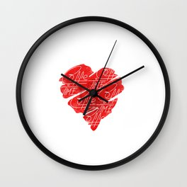 Old heart of coffee V T Shirts Wall Clock