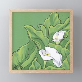 Calla Lily Valley Framed Mini Art Print