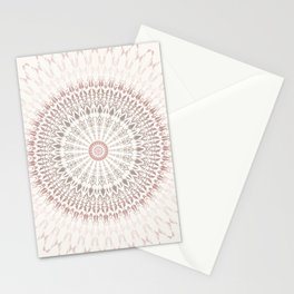 Cream Rose Mandala Stationery Cards