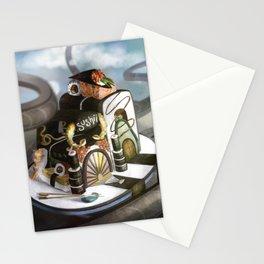 Floating Sushi Stationery Cards