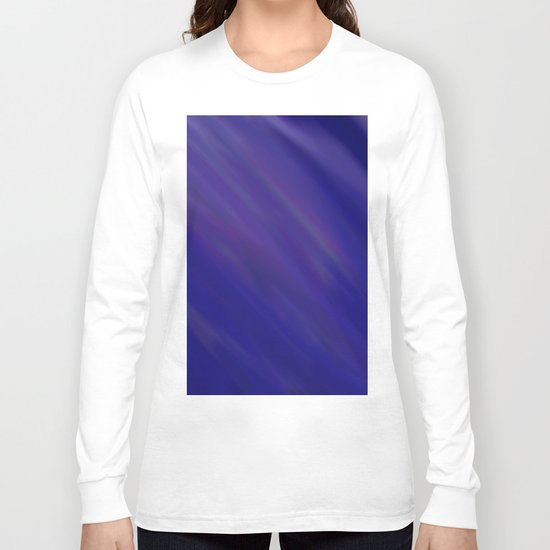 Finding Peace - Abstract, smooth, silky blue painting, peaceful, relaxing, modern art Long Sleeve T-shirt