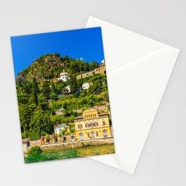 Lugano, Switzerland canton of Ticino bordering Italy, Lake Lugano village photograph Stationery Cards