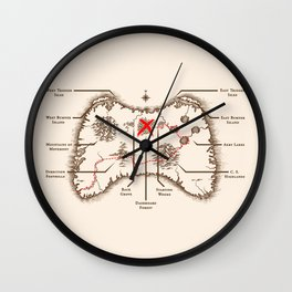 Controller Map Wall Clock
