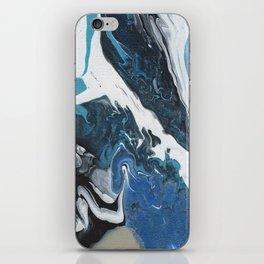 Oceanic 2 of 2 series - Fluid Acrylic Painting Print iPhone Skin