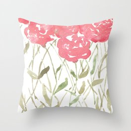 A Bunch Of Red Roses Throw Pillow