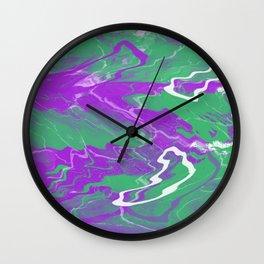 pink effect Wall Clock