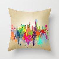 san francisco Throw Pillows featuring San Francisco  by mark ashkenazi